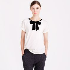 J.Crew+-+Roll-sleeve+tee+with+bow