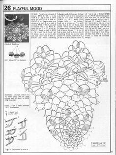 Decorative Crochet Magazines n° 21 - tristanime - Picasa Webalbumok Crochet Circles, Crochet Doily Patterns, Crochet Diagram, Crochet Round, Crochet Chart, Crochet Home, Thread Crochet, Crochet Designs, Knit Crochet