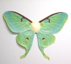 Realistic LUNA MOTH Costume Wings for Halloween, Green Butterfly Wings, Moth Costume. $52.00, via Etsy.
