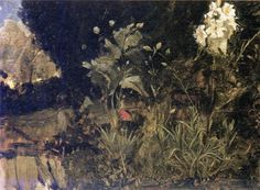 John William Waterhouse: Lilies, Poppies and Carnations - 1916