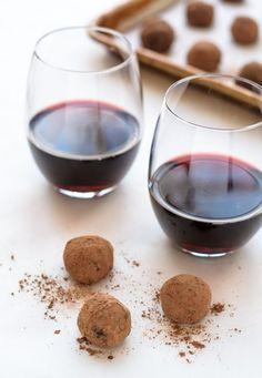 Dark Chocolate Red Wine Truffles