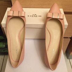 Authentic Coach flats Authentic Coach flats. Shown as seen in pics. Good condition. Worn twice only. Coach Shoes Flats & Loafers