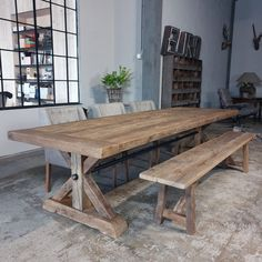 kitchen ideas – New Ideas Wooden Outdoor Table, Wooden Tables, Barn Board Tables, Cottage Dining Rooms, Esstisch Design, Oak Dining Table, Furniture Board, Farmhouse Table, Fireplace Kitchen