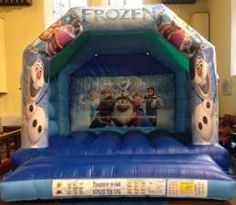 This frozen theme Bouncy Castle has outstanding digital art work and looks amazing . Comes with all your favourite characters from the movie frozen 2 . It is great if your looking for a castle that your little girls will be over the moon with it comes with a lot of different colors and a very eye catching design . Comes with a sewn in rain cover and it's suitable for up to 6-8 children at a time.