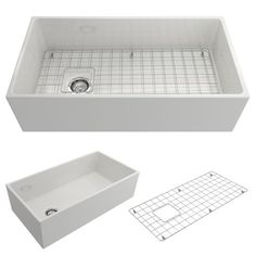 "BOCCHI Contempo 36"" Fireclay Farmhouse Apron Single Bowl Kitchen Sink, White, 1354-001-0120 Showcase Image | The Sink Boutique"