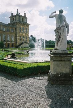 Blenheim Palace Gardens, UK-birthplace of Sir Winston Churchill...