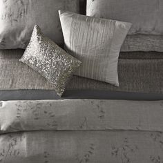 the acacia bedding from the calvin klein home 20th anniversary collection as