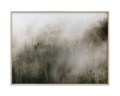 """""""Pacific North Fog"""" - Art Print by Emily Coey in beautiful frame options and a variety of sizes."""