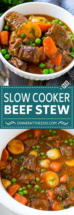 Slow Cooker Beef Stew - Dinner at the Zoo - Crockpot Recipes Slow Cooker Recipes, Cooking Recipes, Healthy Recipes, Recipe For Slow Cooker Beef Stew, Beef Stew Crockpot Recipe, Slowcooker Beef Stew, Recipe For Beef Stew, Beef Goulash Slow Cooker, Slow Cook Beef Recipes