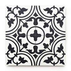 Shop handmade encaustic cement tiles from Los Angeles based Zia Tile. We have more than 120 types of handmade cement tiles for floors, walls, kitchens, showers, and bathrooms. White Bathroom Tiles, Bathroom Floor Tiles, Basement Bathroom, Small Bathroom, Mosaic Shower Tile, Mosaic Tiles, Interior Walls, Interior And Exterior, Black And White Tiles