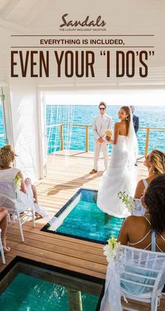 Sandals Over the Water Wedding Pavilion is a stunning way to say I DO.     #sandalsresorts #CaribbeanWedding #AllInclusive #OvertheWater #Honeymoon #Jamaica