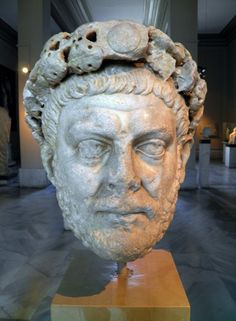 Roman Empire Art - Head of the Roman emperor Diocletian, 284 - 305 CE (Istanbul Archaeology Museum). Historical Artifacts, Ancient Artifacts, Ancient Rome, Ancient History, Sculpture Romaine, Art Romain, Rome Antique, History Encyclopedia, Roman Sculpture