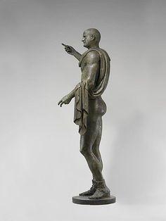 Bronze statue of the emperor Trebonianus Gallus. Period: Imperial Date: A.D. 251–253