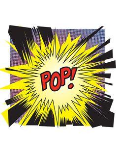 POP! Comic Book Style Pop Art, Illustration.