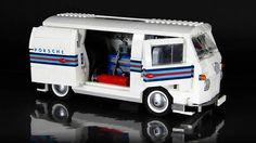 Lego Porsche Lego Van, Lego Camper Van, Lego Modular, Lego Design, Lego Technic, Vw Bus, Technique Lego, Combi Wv, Construction Lego