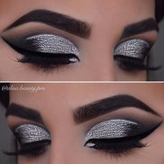 43 Glitzy NYE Makeup Ideas Silver Smokey Eyes Related posts: 36 Most Professional Makeup Ideas For All Occasions 2019 Best Makeup Prom Brown Eyes Gold Ideas 48 Magical Eye Makeup Ideas Makeup Ideas For Brown Eyes Simple Eyeshadows 51 Best Ideas