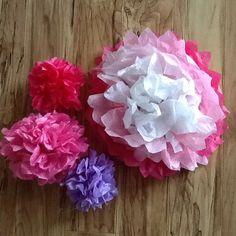 Kiyra's Bday Party tissue paper flowers
