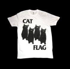 Love this t-shirt!.....Black Flag CAT FLAG T-shirt! by SleazySeagull via Esty