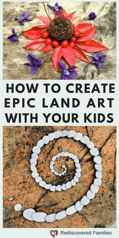 Are you looking for easy nature activities? Try making Land Art. It's a great way to get children outside and away from their screens. It's a great family project and you'll be amazed by your kids creativity and ideas. #familyfun #outdoor #unplug