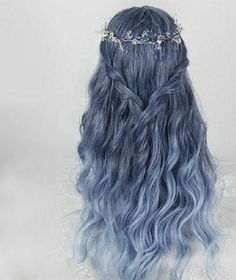 Material: made of artifact heat-resisting hair fiber.Size Reference: for head circumference: and has stretch strap to ad Easy Hairstyles For Long Hair, Formal Hairstyles, Pretty Hairstyles, Pretty Hair Color, Hair Dye Colors, Long Wigs, Dye My Hair, Aesthetic Hair, Ombre Hair