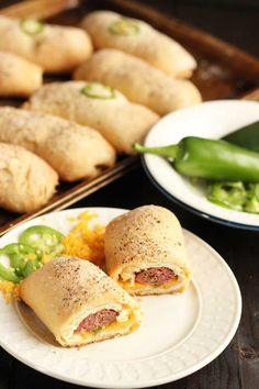 Jalapeno and Cheese Sausage Kolaches | Dash of Texas