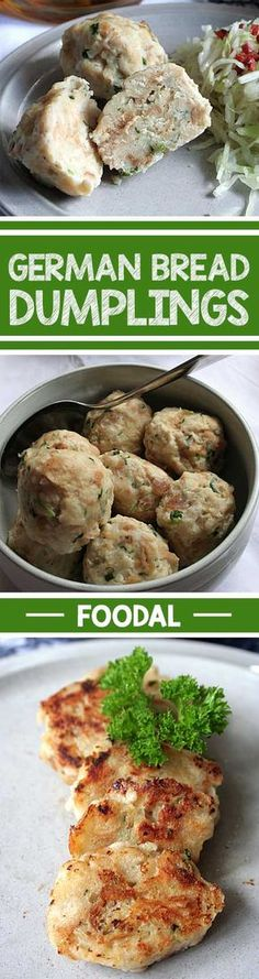 Use Up Day-Old Buns And Bread In These Famous Southern German Dumplings, And Enjoy A Versatile Side Dish With Any Savory Meal At Oktoberfest, And Beyond This Is A Great Way To Add Some Bavarian Flair To Your Menu. Bread Dumplings Recipes, Dumpling Recipe, Bread Recipes, Chicken Recipes, Austrian Recipes, German Recipes, Austrian Food, French Recipes, German Dumplings