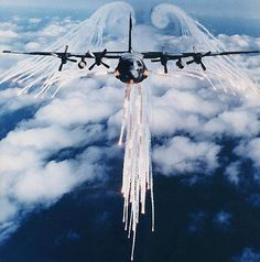 The C-130J countermeasures system can dispense chaff cartridges and infrared flares and the POET and GEN-X active expendable decoys. - Image - Airforce Technology