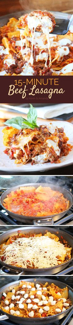 15-Minute Beef Lasagna | 7 Quick And Delicious Dinners To Make If You Have No Free Time