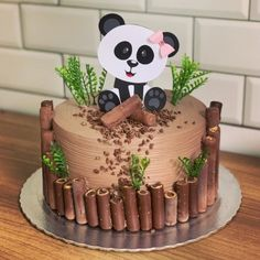 15 Panda Cake Ideas That Are Absolutely Beautiful Panda Bear Cake, Panda Cakes, Baby Cakes, Cupcake Cakes, Panda Birthday Cake, Happy Birthday Cakes, Cake Designs For Kids, Buttercream Cake Designs, Beautiful Birthday Cakes