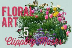 Floral Art Photography Masks by Clikchic Designs on Creative Market
