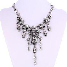 Skeleton Skull Necklace