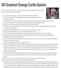 101 Greatest George Carlin Quotes - Pinned with Pin Anything from pin4ever.com