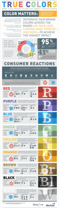 True Colors, What your Brand Colors say about your business.