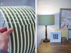DIY Lamp Shade Recover :: just glue!!