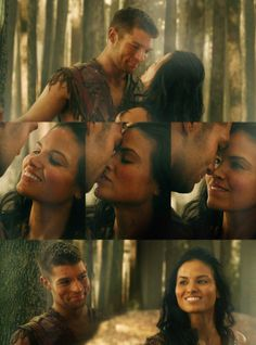 Guh these two are adorable together. SPARTY, WHY YOU RUIN THINGS?! #Spartacus #Mira