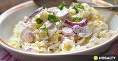Laktató és változatos salátákkal simán jól lakhatunk, ha ezeket kínáljuk a sültek illetve rántott halak mellé - nem kell feltétlen sültkrumpliban vagy rizsben gondolkodni! Meat Recipes, Pasta Recipes, Real Food Recipes, Salad Recipes, Cooking Recipes, Healthy Recipes, Cold Dishes, Tasty Dishes, Hungarian Recipes