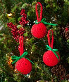 Einfache Weihnachtskugeln Gratis Häkelmuster