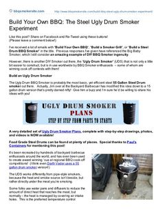 Ugly Drum Smoker Plans that will make you the Rock Star BBQ Pitmaster of your neighborhood!