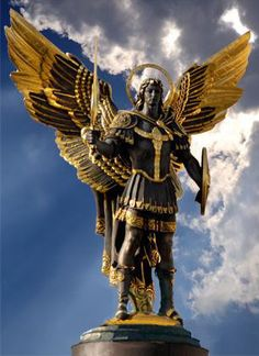 Archangel Michael, protector of Kiev, Ukraine, Independence Square