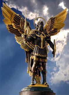 Archangel Michael, protector of Kiev, Ukraine, Independence Square