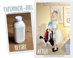 Hast du Lust, die trüben Tage mit einer Bastelei zu verbringen? Du brauchst: Alufolie leere, ausgespülte Milchflasche / oder PET-Flasche Mal...