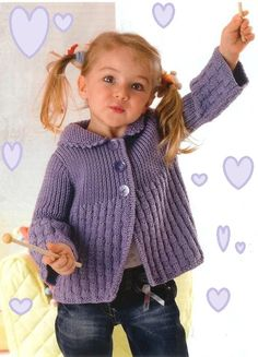 (no title) – Knitted Sweater Bloğ Kids Knitting Patterns, Baby Sweater Knitting Pattern, Knit Vest Pattern, Crochet Baby Cardigan, Baby Hats Knitting, Knitting For Kids, Baby Patterns, Baby Sweaters, Girls Sweaters