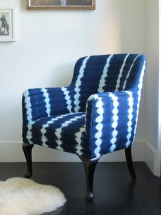 Our Claire barrel chair looks very similar to this, and adds an inviting feel to any room!
