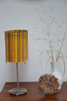 Lamp made of rulers cute for classroom or teachers office