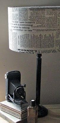 Recubre una lámpara aburrida o estropeada. | 24 formas creativas de decorar tu hogar gratis