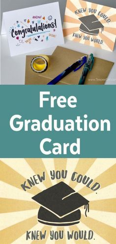 Free Graduation Cards plus Envelope Template Congratulations Card Graduation, Graduation Greetings, Graduation Celebration, Card Templates Printable, Greeting Card Template, Free Printables, Greeting Cards, Diy Graduation Gifts, Graduation Cards