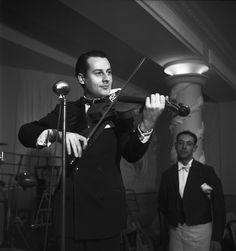 Émile Savitry - Stephane Grappelli and the Hot Club de France in Stage B in Montparnasse, Paris, 1935