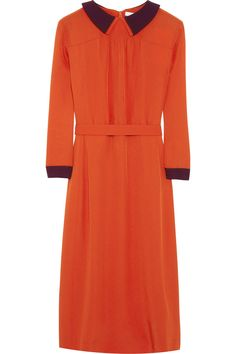 Victoria, Victoria Beckham  Double-collar crepe dress  £566.67