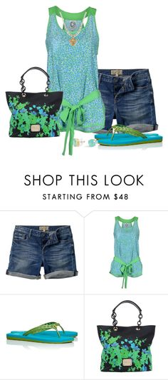 """""""Tory Burch Flip Flops #2"""" by tinam-degen ❤ liked on Polyvore featuring Fat Face, DRESS GALLERY, Tory Burch, Blumarine and C. Wonder"""