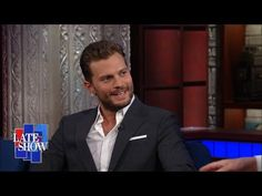 Jamie on The Stephen Colbert Show Part 2 Jamie Dornan Switches From Sexy to Serious for Anthropoid